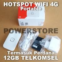 Huawei R216 12GB Telkomsel 4G Modem Mifi Portable Hotspot 100mbps