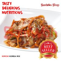 KIMCHI MIX SAWI WORTEL LOBAK FRESH 250 GRAM SAMWON Makanan Korea
