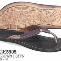 Sandal Casual Pria Kulit | Tan