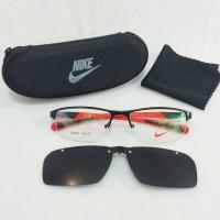 harga Frame Kacamata Minus Nike Clip On SM 7385 Half Polarized Pria Htm Mrh Tokopedia.com