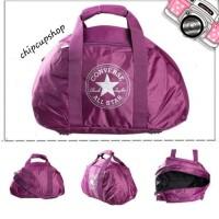 Tas travel gym fitness converse bag violet 100 % original