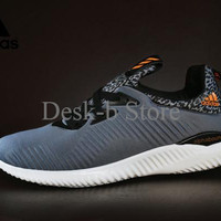 Sepatu Sport Adidas AlphaBounce Premium Import / Abu - Abu Grey / Runn