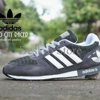 Sepatu Sport Adidas Neo City Racer Grade Ori / Abu Abu Putih / Kets Ca