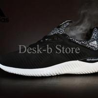 Sepatu Sport Adidas AlphaBounce Premium Import / Hitam Full Black / Ru