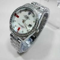 JAM TANGAN DGT Wanita Rolex 9109 Silver SALE Berkualitas