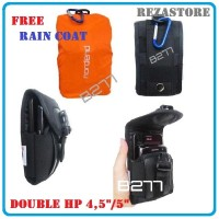 harga Tas Handphone Pria Double 4,5 Sampai 5 Inch Free Raincover Rezastore Tokopedia.com