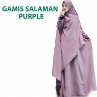 Gamis Salaman/jumbo Purple@115rb