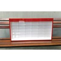 Rak Diecast Acrylic / Akrilik Hotwheels, Tomica, Matchbox Isi 36 Merah