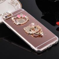 iPhone 6 PLUS luxury mirror Hello Kitty Stand Holder Diamond Case