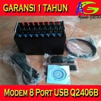 Modem Pool 8 Port Wavecom Q2406B Tombol Biru 6 Pin 100% Wavecom Ori