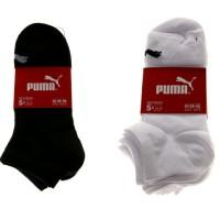 Jual Kaos kaki Puma Original 5 Pasang hitam or Putih Polos sport pendek Murah