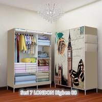 07 LONDAN BIG BEN Multifunction Wardrobe with cover lemari pakaian