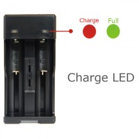 Charger 18650 Battery 2 Slot With Micro USB Plug