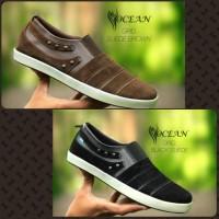 Sepatu Casual Pria Ocean Coklat Dan Hitam