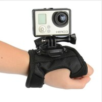 Glove Style Velcro Wrist Band With Mount For Xiaomi Yi / GoPro Hero 3 +