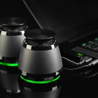 Razer Ferox 2013 Mobile gaming & music speakers with Green lighting