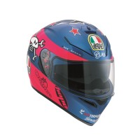 HELM AGV K3 SV REPLICA GUY MARTIN PINK/BLUE