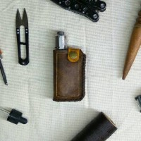 Leather case vaporizer THERION - case vape - case mod - sarung vape