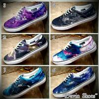 Sepatu Vans Printing Cewek Cowok Grade Original