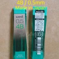 ATK255UN Isi 40 Pcs JAPAN 4B 0.5 Mm Isi Pensil Mekanik Uni Mitsubishi