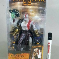 mainan action figure Neca god of war Kratos In golden fleece armor