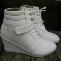 Jual sepatu wanita putih sneaker sneakers wedges high heels Murah