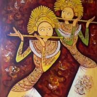 harga Lukisan 2 Penari Bali 60x80 Kanvas Tokopedia.com
