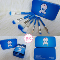 KUAS DORAEMON BRUSH KALENG 7IN1 /MAKE UP BRUSH /KUAS