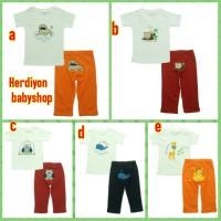 setelan bayi boy/baju anak karakter/carter/celana panjang/kaos