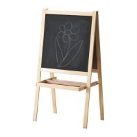 IKEA MALA Papan Tulis Anak Blackboard dan Whiteboard 2 in 1, kayu