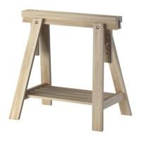 IKEA FINNVARD Penyangga Meja 70x71/93 cm, kayu birch solid