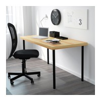 IKEA ADILS Kaki Meja 70 Cm, Baja Lapis Epoxy, Hitam
