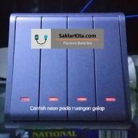 Clipsal Schneider Pieno Lavender Saklar 4 Gang Neon