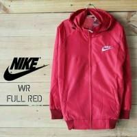 Jaket Parasut - Nike windrunner warna Merah | Jaket Sport Running
