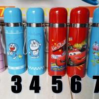 Thermos / Termos Stainless Karakter Doraemon Frozen Cars Hello Kitty