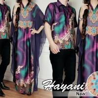 Couple Hayani Motif Bunga Gamis Kalalawar Baju Pasangan Keluarga A099