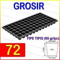 Tray semai pot bibit pembibitan 72 lubang (TIPIS)