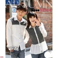 autumn couple-fashion couple-motif-lengan panjang-kaos couple-PP