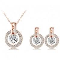 Kalung dan Anting Bijouterie Wedding Jewelry Sets 18K - ST0017-A