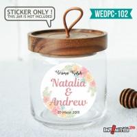 label sticker souvenir pernikahan wedding kebaya pengantin WEDPC102