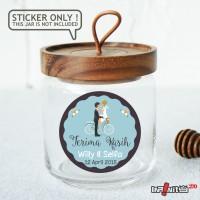 label sticker souvenir pernikahan wedding kebaya pengantin WEDPC076