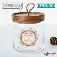 label sticker souvenir pernikahan wedding kebaya pengantin WEDPC099