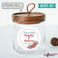 label sticker souvenir pernikahan wedding kebaya pengantin WEDPC097