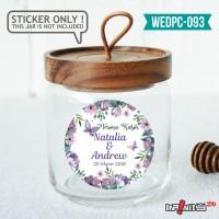 label sticker souvenir pernikahan wedding kebaya pengantin WEDPC093