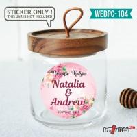 label sticker souvenir pernikahan wedding kebaya pengantin WEDPC104