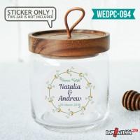 label sticker souvenir pernikahan wedding kebaya pengantin WEDPC094