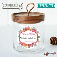 label sticker souvenir pernikahan wedding kebaya pengantin WEDPC077