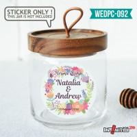 label sticker souvenir pernikahan wedding kebaya pengantin WEDPC092