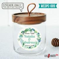 label sticker souvenir pernikahan wedding kebaya pengantin WEDPC089