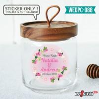 label sticker souvenir pernikahan wedding kebaya pengantin WEDPC088